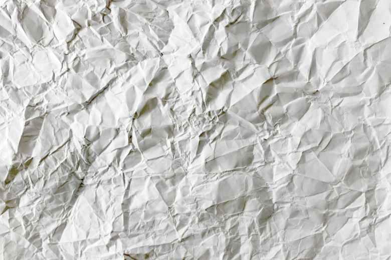 blank close up crumpled crumpled paper